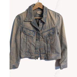 Aritzia Wilfred   Cropped Denim Jacket